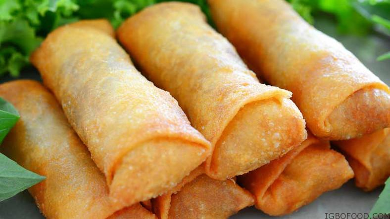 How to make Nigerian spring rolls (small chops)